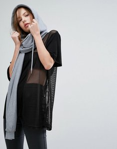 Read more about Seint hooded scarf in grey jersey - grey