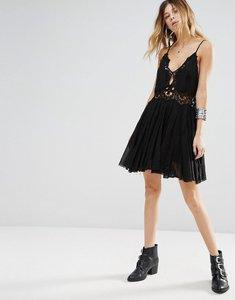 Read more about Free people ilektra lace crochet mini dress - black
