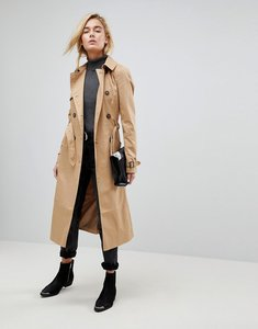 Read more about Asos longline classic trench coat - stone
