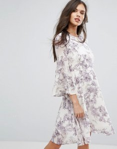 Read more about Y a s pallida trumpet sleeve floral print dress - aop