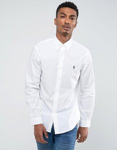 Read more about Polo ralph lauren poplin shirt buttondown slim fit in white - white