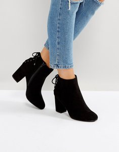 Read more about Head over heels by dune olli lace back heeled ankle boots - black