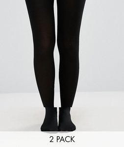 Read more about New look 2 pack 100 denier tights - black