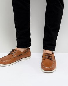 Read more about Kurt geiger london leather boat shoes in brown - brown
