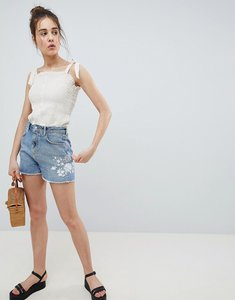 Read more about Pimkie embroidered denim shorts - blue