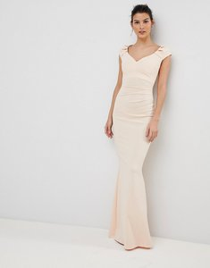 Read more about City goddess pleated maxi dress - pale pink