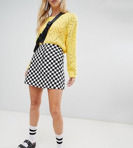 Read more about Reclaimed vintage inspired check mini skirt - multi