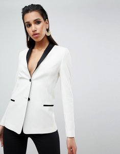 Read more about Asos design tailored longline cocktail blazer - off white