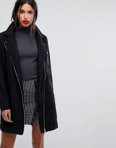 Read more about Y a s longline biker coat - black