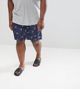 Read more about Polo ralph lauren big tall traveller anchor print swim shorts player logo in navy - anchor knots