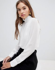 Read more about Glamorous high neck blouse - white