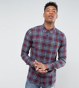 Read more about D-struct tall flannel check shirt - red
