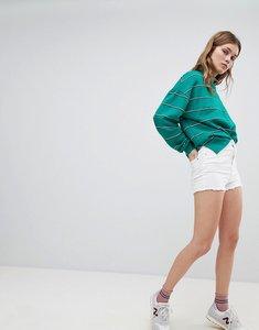 Read more about Bershka high waist denim short - white