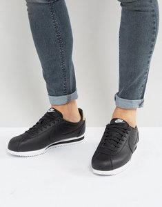 Read more about Nike cortez leather se trainers in black 861535-004 - black