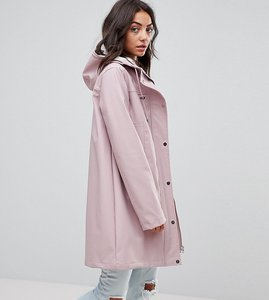 Read more about Asos tall premium borg raincoat - pink