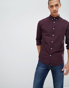 Read more about Pier one gingham shirt in burgundy - bordeaux