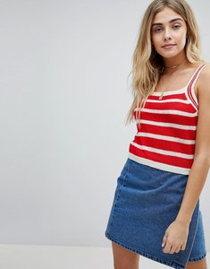Read more about Honey punch cami top in stripe knit - red