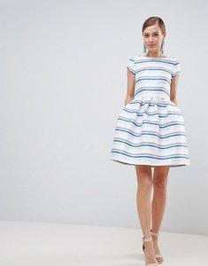 Read more about Closet london striped skater dress - multi