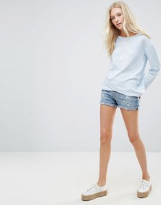 Read more about Blend she casual ripped denim shorts - med light blue denim