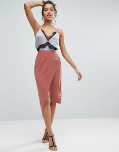 Read more about Asos minimal wrap skirt - pink