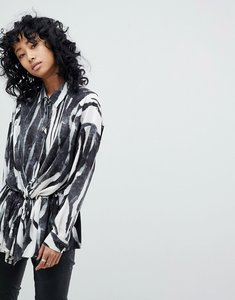 Read more about Religion oversize shirt in zebra print - white