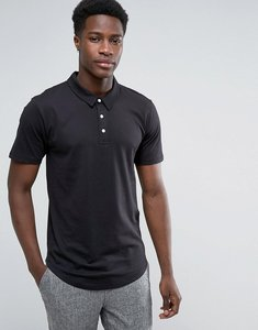 Read more about Troy curved hem jersey polo shirt - black