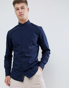 Read more about Produkt smart shirt in slim fit stretch - navy blazer