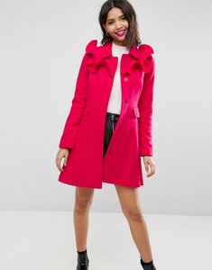 Read more about Asos skater coat with frills - pink