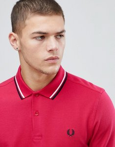 Read more about Fred perry twin tipped polo shirt in red - f68