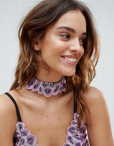 Read more about With love lilly dena choker - purple