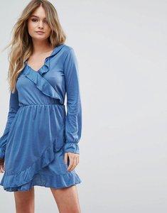 Read more about Brave soul flute wrap dress - storm blue