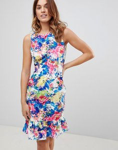 Read more about Paper dolls print peplum dress - multi