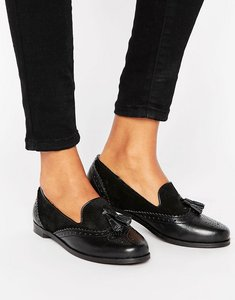 Read more about Park lane leather mix loafer - black suede