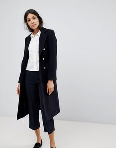 Read more about Helene berman wool blend military double breasted coat - navy