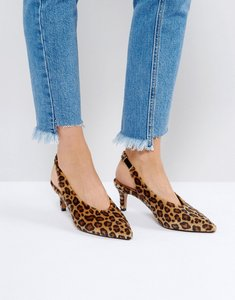 Read more about Asos swift slingback kitten heels - leopard