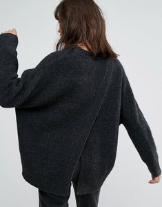 Read more about Weekday open back knit jumper - grey