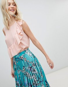 Read more about Vero moda ruffle printed blouse - light pink