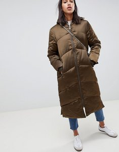 Read more about Asos longline puffer coat - khaki
