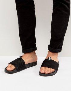 Read more about Slydes cruz logo slider flip flops - black