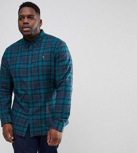 Read more about Farah plus waithe slim fit check shirt in navy - navy