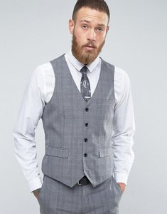 Read more about Harry brown check waistcoat - grey