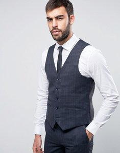 Read more about Harry brown navy heritage check waistcoat - navy
