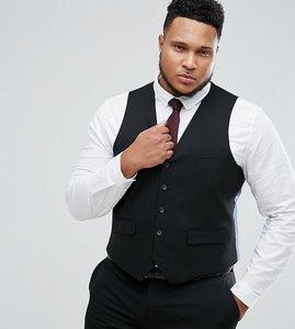 Read more about Harry brown plus plain stretch slim suit waistcoat - black