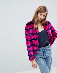 Read more about Unreal fur abracadabra faux fur jacket - orchid indigo