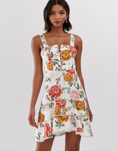 Read more about Forever new printed flippy hem mini dress in multi