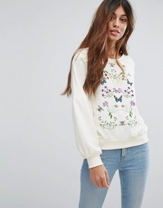 Read more about Vero moda embroidered sweater - winter white