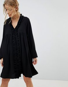 Read more about Pimkie black slouchy boho dress - black