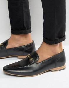Read more about Kg by kurt geiger buckle loafers in black leather - black