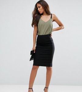 Read more about Asos tall high waisted pencil skirt - black