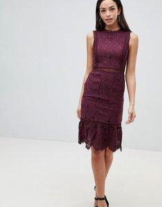 Read more about Ax paris lace midi dress - plum
